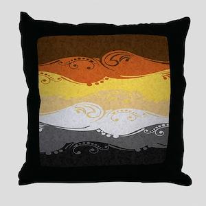 Bear Ornamental Flag Throw Pillow