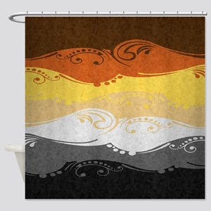 Bear Ornamental Flag Shower Curtain
