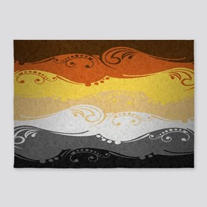 Bear Ornamental Flag 5'x7'Area Rug