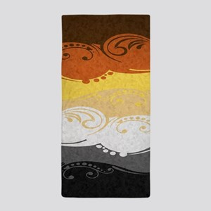 Bear Ornamental Flag Beach Towel