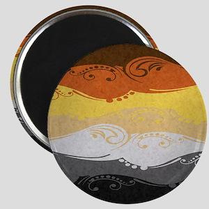 Bear Ornamental Flag Magnet