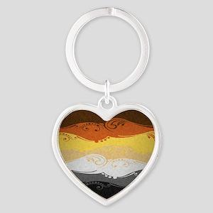 Bear Ornamental Flag Heart Keychain