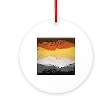 Bear Ornamental Flag Ornament (Round)