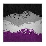 Asexual Ornamental Flag Tile Coaster