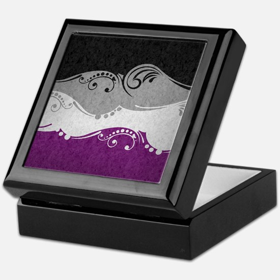 Asexual Ornamental Flag Keepsake Box