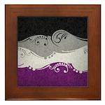 Asexual Ornamental Flag Framed Tile