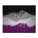 Asexual Ornamental Flag Throw Blanket