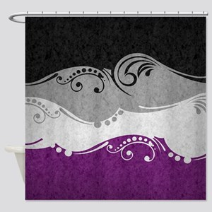 Asexual Ornamental Flag Shower Curtain