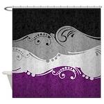 Asexual Ornamental Flag Shower Curtain