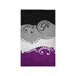 Asexual Ornamental Flag Area Rug