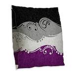 Asexual Ornamental Flag Burlap Throw Pillow