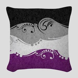 Asexual Ornamental Flag Woven Throw Pillow
