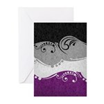 Asexual Ornamental Flag Greeting Cards (Pk of 10)