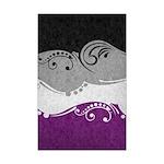 Asexual Ornamental Flag Mini Poster Print