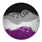 Asexual Ornamental Flag Round Car Magnet