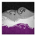 Asexual Ornamental Flag Square Car Magnet 3