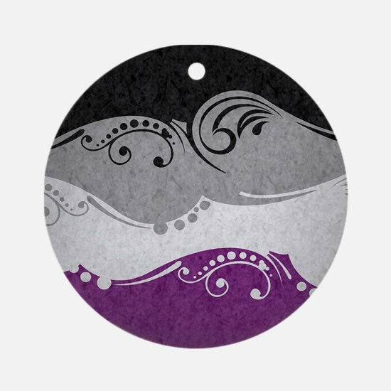 Asexual Ornamental Flag Ornament (Round)