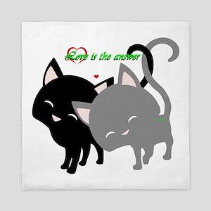 Cutesy Cutey Cats Queen Duvet