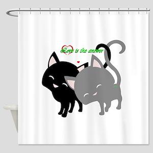 Cutesy Cutey Cats Shower Curtain
