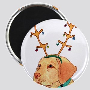 Holiday Yellow Lab Magnets