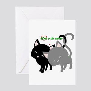 Cutesy Cutey Cats Greeting Cards