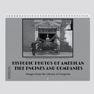 Historic Fire Engines 12 Month Wall Calendar