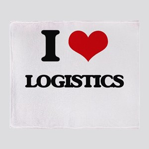 I Love Logistics Throw Blanket