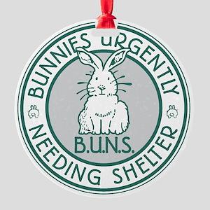 Buns Logo (green) Round Ornament