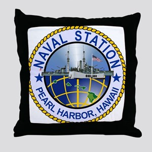 Naval Station Pearl Harbor Throw Pillow