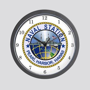 Naval Station Pearl Harbor Wall Clock