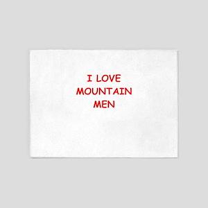 mountain men 5'x7'Area Rug