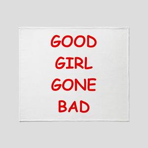 good girl Throw Blanket