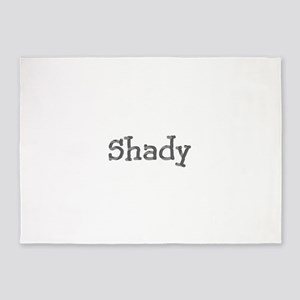 Funny Shady Sarcasm Cool Font 312 5'x7'Area Rug