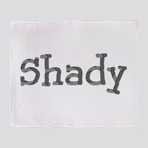 Funny Shady Sarcasm Cool Font 312 Throw Blanket