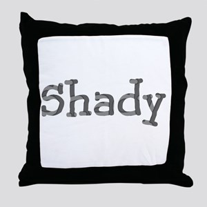 Funny Shady Sarcasm Cool Font 312 Throw Pillow
