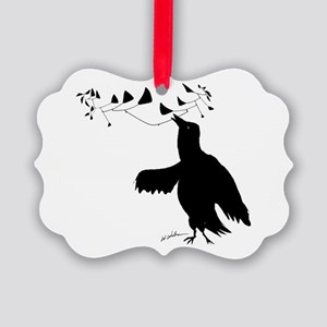 Smart Bird Picture Ornament