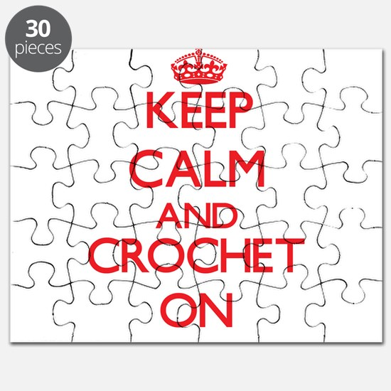 Keep calm and Crochet ON Puzzle