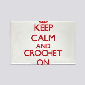Keep calm and Crochet ON Magnets