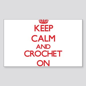 Keep calm and Crochet ON Sticker