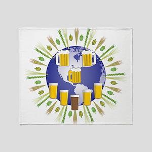 Beer World Throw Blanket