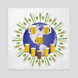 Beer World Queen Duvet