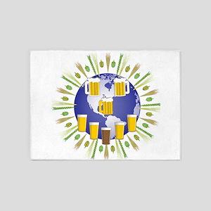 Beer World 5'x7'Area Rug