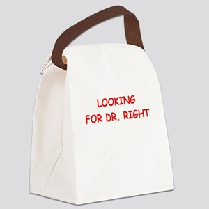 dr right Canvas Lunch Bag