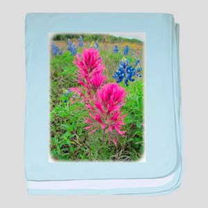 Downy Paintbrush and Bluebonnets baby blanket