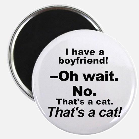 No Boyfriends Just Cats Magnets