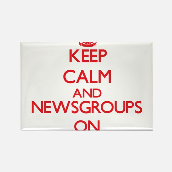 Keep calm and Newsgroups ON Magnets