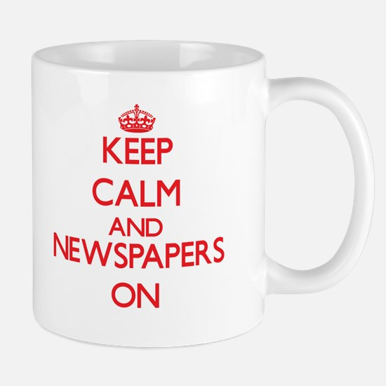 Keep calm and Newspapers ON Mugs