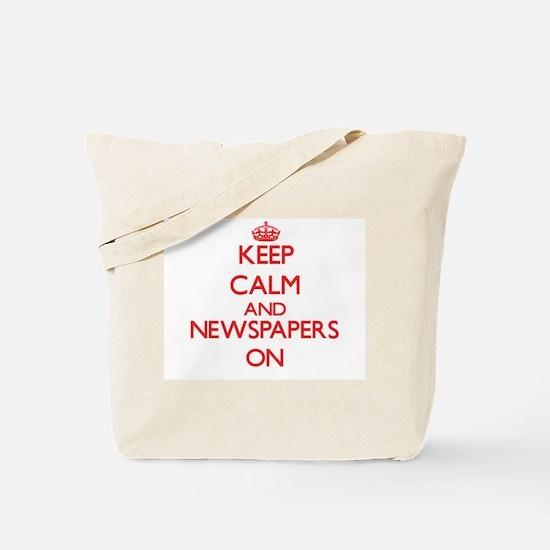 Keep calm and Newspapers ON Tote Bag