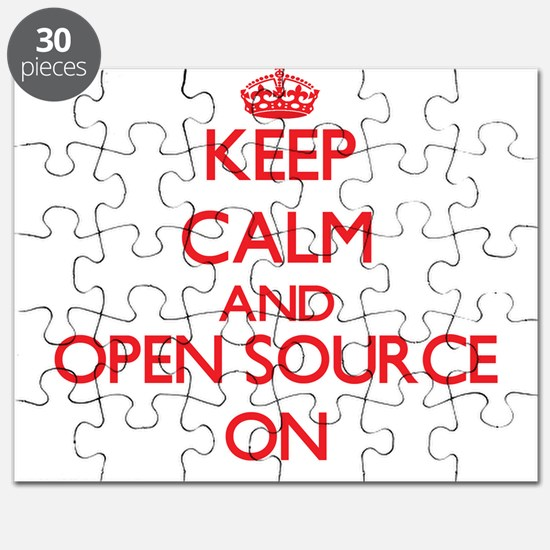 Keep calm and Open Source ON Puzzle