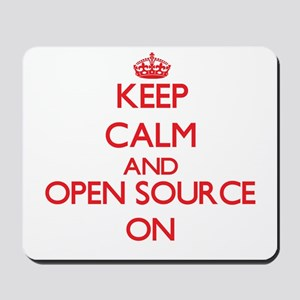 Keep calm and Open Source ON Mousepad